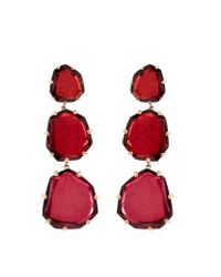 Annoushka | Red Shard Triple Drop Earrings | Lyst