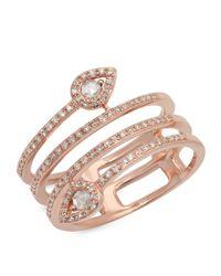 Kenza Lee - Pink Spiral Diamond Ring - Lyst