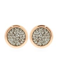 Links of London | Metallic Diamond Essentials Pave Round Stud Earrings | Lyst