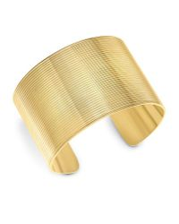 Theo Fennell | Yellow Gold Whip Wide Cuff | Lyst