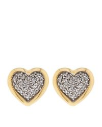 Links of London | Metallic Diamond Essentials Pavé Diamond Heart Earrings | Lyst
