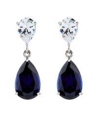 Carat* - Blue 2.5ct Sapphire Pear Drop Earrings - Lyst