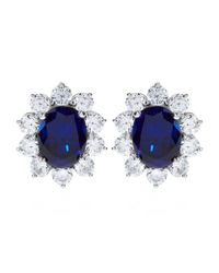 Carat* | Blue 2ct Fancy Oval Sapphire Stud Earrings | Lyst