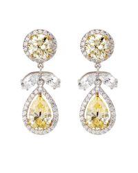 Carat* | Metallic Fancy Yellow Drop Earrings | Lyst