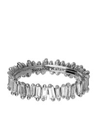 Suzanne Kalan | Metallic White Gold Baguette Diamond Ring | Lyst