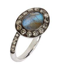 Annoushka | Blue Dusty Diamonds Labradorite Side Ring | Lyst