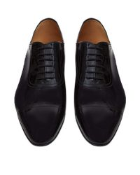 Gucci | Black Drury Leather Oxford Shoe for Men | Lyst