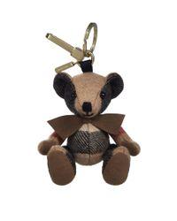 Burberry | Brown Thomas Check Bear Charm | Lyst