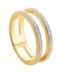 Monica Vinader - Metallic Skinny Double Band Diamond Ring - Lyst