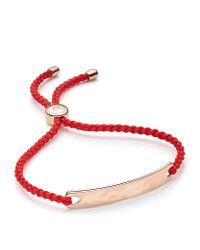Monica Vinader | Red Havana Friendship Bracelet | Lyst