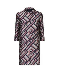 Max Mara - Multicolor Getto Abstract Jacquard Cocoon Coat - Lyst