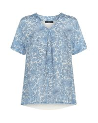 Weekend by Maxmara - Blue Floral Silk Front Top - Lyst
