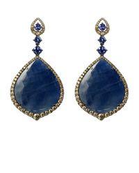 Annoushka - Blue Sapphire White Gold Earrings - Lyst