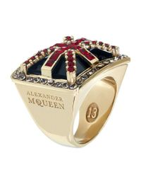 Alexander McQueen | Multicolor Britannia Ring | Lyst