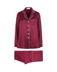 Olivia Von Halle | Red Polka Dot Lila Pyjamas | Lyst