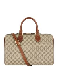Gucci | Brown Linea A Large Top Handle Bag | Lyst