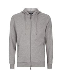 Armani Jeans | Gray Light Zip Hoodie for Men | Lyst