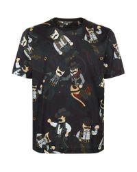 Dolce & Gabbana - Black Cowboy Print T-shirt for Men - Lyst