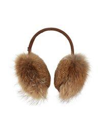 Bogner - Brown Fur Ear Muffs - Lyst