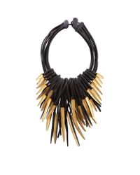 Eskandar | Multicolor Multi-strand Ebony And Gold Leaf Necklace | Lyst