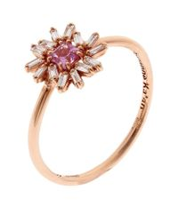 Suzanne Kalan | Metallic One Of A Kind Rose Gold Diamond Sapphire Ring | Lyst