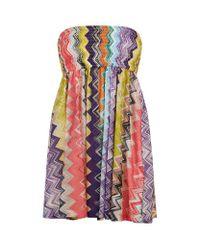 Missoni   Multicolor Mini Bandeau Dress   Lyst