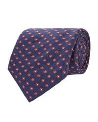 Corneliani   Multicolor Floral Silk Tie for Men   Lyst