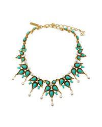 Oscar de la Renta | Multicolor Pearl Resin Necklace | Lyst