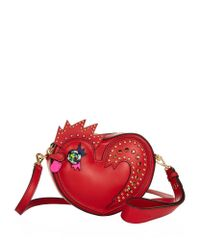 MCM - Red Rooster Heart Coin Case - Lyst