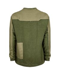 Adyn - Green Washed Jersey Sweatshirt for Men - Lyst