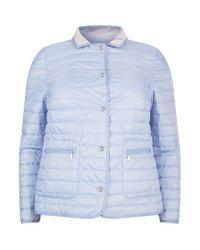 Basler | Blue Reversible Quilted Jacket | Lyst