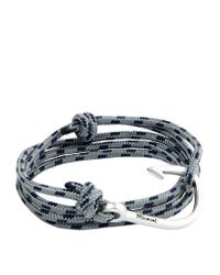 Miansai | Blue Silver Hook Rope Bracelet for Men | Lyst
