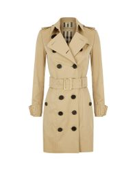 Burberry | Natural Oversized Buckle Cotton Gabardine Trench Coat | Lyst