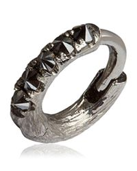 Annoushka | Metallic Dusty Diamonds Single White Gold Hoop Earring | Lyst