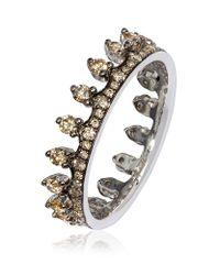 Annoushka | Metallic Brown Diamond White Gold Crown Ring | Lyst
