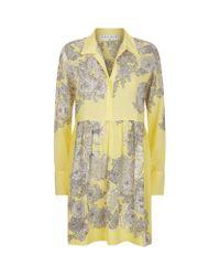 Sandro - Yellow Eytan Printed Dress - Lyst