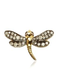 Annoushka - Metallic Love Diamonds Dragonfly Right Earring - Lyst