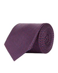 Corneliani - Blue Dotted Tie for Men - Lyst