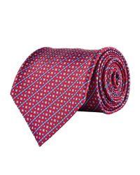Stefano Ricci - Red Geometric Stripe Tie for Men - Lyst