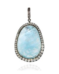 Annoushka - Metallic Aquamarine Diamond Pendant - Lyst