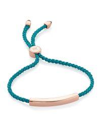Monica Vinader | Metallic Linear Friendship Bracelet | Lyst
