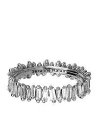 Suzanne Kalan | White Gold Baguette Diamond Ring | Lyst
