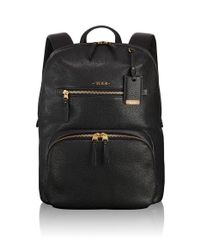 Tumi - Black Halle Leather Backpack for Men - Lyst