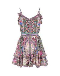 Camilla - Multicolor Kalbelia Queen Mini Dress - Lyst