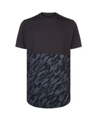 Under Armour Black Camouflage Panel T-shirt for men