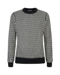 Sandro - Blue Cable-knit Wool Sweater for Men - Lyst