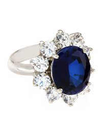 Carat* - Blue Royal Oval Sapphire Cluster Ring - Lyst