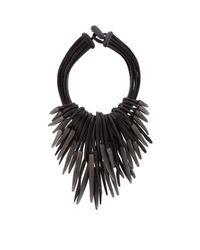 Eskandar - Black Multi-strand Carved Necklace - Lyst