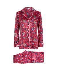 Olivia Von Halle | Red Lila Yasmine Floral Pyjamas | Lyst