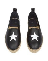 Givenchy - Black Star-embossed Leather Espadrilles for Men - Lyst